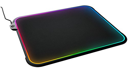 SteelSeries 63391 QcK Prism RGB Mousepad, Dual-Surface, 12-Zone Lighting with Gamesense