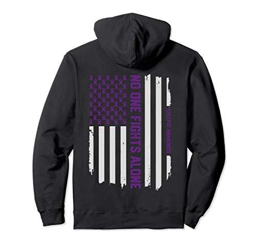 Epilepsy Awareness Hoodie - American Flag Epilepsy ()