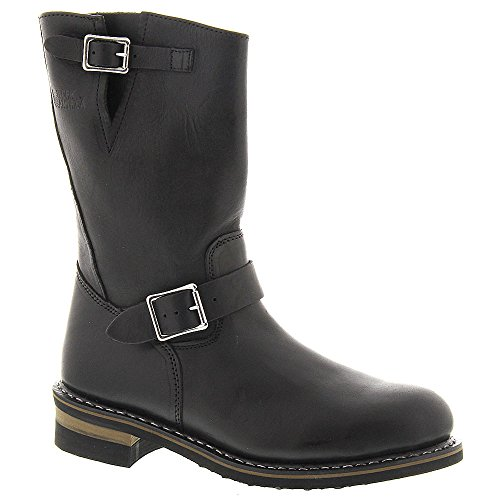 Work America Mens 11 Steel Toe Wellington Leather Steel Toe Pull on Safety S. Black I5OYhT0X