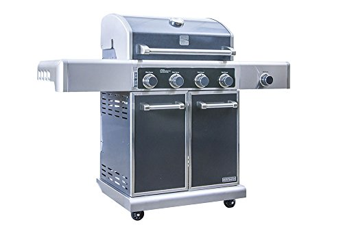 Kenmore Elite 4 Stainless Steel Outdoor Patio Gas Propane BBQ Grill with Side Burner in