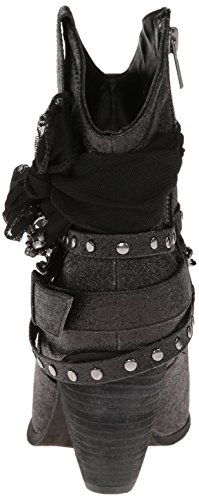 Glitzy Trio Boot Black Women's Not Harness Rated H7wn68
