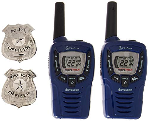 (Cobra CX396A Kids' Walkie Talkies Two-Way Radios Toy for Kids, Police Version with 2 Badges)