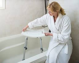 Dr Kay\'s Adjustable Height Bath and Shower Seat Top Rated Shower Bench