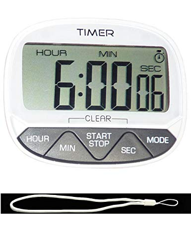 CJHFAMILY 24-Hour Digital Electronic Kitchen Home Cook Classroom Countdown and Count Up Timer/Clock with Magnet