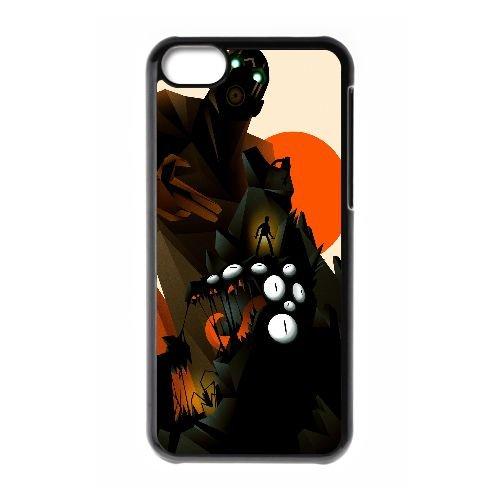 F3R24 Borderlands Création X4D0XB cas d'coque iPhone de téléphone cellulaire 5c couvercle coque noire IJ8YTW6DF