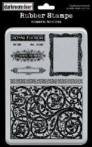 Darkroom Door Rubber Ornate Elements Stamp Set