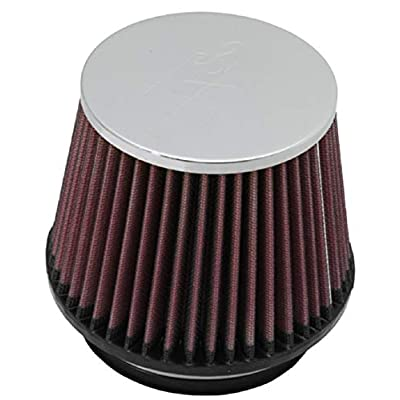 K&N Universal Clamp-On Air Filter: High Performance, Premium, Washable, Replacement Filter: Flange Diameter: 4.5 In, Filter Height: 4.5 In, Flange Length: 0.625 In, Shape: Round Tapered, RF-1005: Automotive