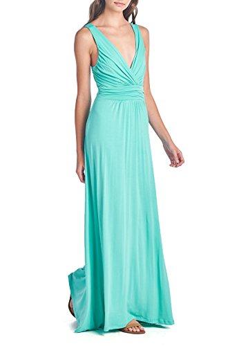 Beachcoco Women's Sleeveless V Neck Maxi Dress (S, (Jersey V-neck Dress)