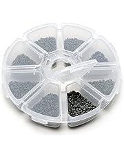 Ganzoo 8 vakken opbergdoos van kunststof/sieraden-opbergbox/medicijndoos/waaierbox met name voor kleine onderdelen zoals kralen/knutselbox met 8 kamers - merk