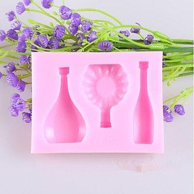 FMY European Wine Bottle Glass Fondant Cake Chocolate Silicone Mold, Decoration Tools Bakeware