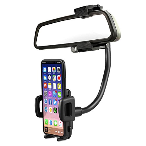 Sunjoyco 2 in 1 Universal 360 Degree Car Air Vent Holder Rear View Mirror Mount Stand Cradle for iPhone X 8 7 7s 6s Samsung Galaxy Note 8 Note 7 S8 LG Huawei Google Nexus GPS