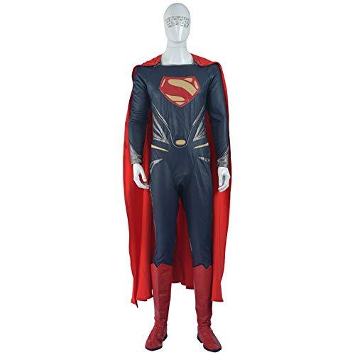 QXMEI Movie Superman Steel Cloak Jumpsuit Cosplay Halloween Cosplay -