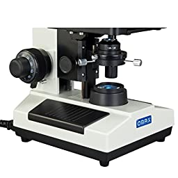 OMAX 40X-2500X Brighter Darkfield Trinocular Compound Microscope with Replaceable LED Light