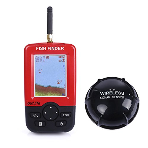 Fish finderigarden portable fish finder rechargeable for Wireless fish finder