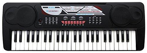 McGrey BK-4910 Keyboard (49 Tasten, 16 Klangfarben, 10 Rhythmen, Lernfunktion, Mikrofon, Notenständer)