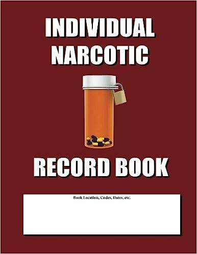 Individual Narcotic Record Book Burgundy Cover Max N Jax