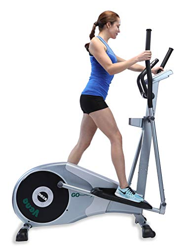 GOELLIPTICAL V-200 Standard Stride 17″ Programmable Elliptical Exercise Cross Trainer Machine for Cardio Fitness Strength Conditioning Workout at Home or Gym