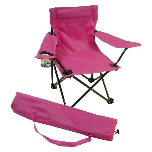 Redmon for Kids Kids Folding Camp Chair, Hot Pink