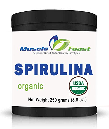 Organic Spirulina Powder by Muscle Feast (250 grams)