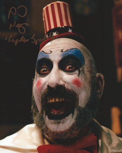 Rob Zombie House of 1,000 Corpses Signed Autographed Sid Haig as Captain Spaulding 8x10 Photo