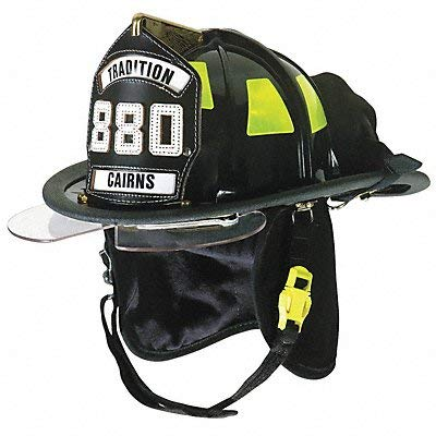 Cairns Fire Helmet, Black, Traditional ()
