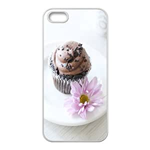 Chocolate cake iPhone 5,5S Cases, Girls protective luxury case for iPhone 5S Kyle5 V {White}