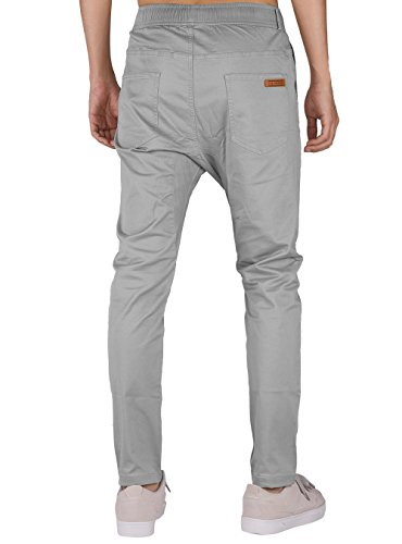 Pantalon Awoken The Jogging Fit Clair Chino Slim Casual Coton Homme Gris n7BxB4wq