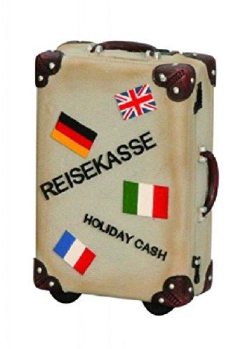 –Hucha, maleta de viaje, maletín retro aprox. 15cm x 11cm -Hucha