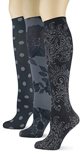 Knee High Trouser Socks w/Colorful Printed Patterns - Made in USA by Sox Trot (3 Paisley Etc.)