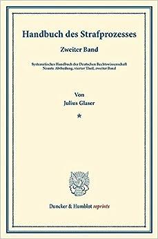 Handbuch des Strafprozesses.