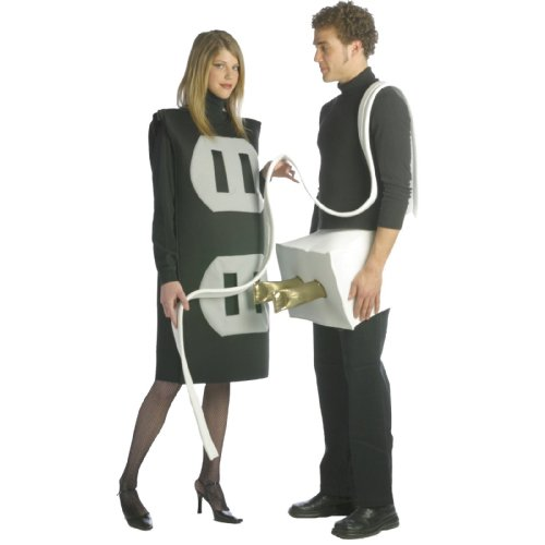 Adult Couples Costumes Ideas (Plug and Socket Set Costume Set - One Size - Chest Size 48-52)