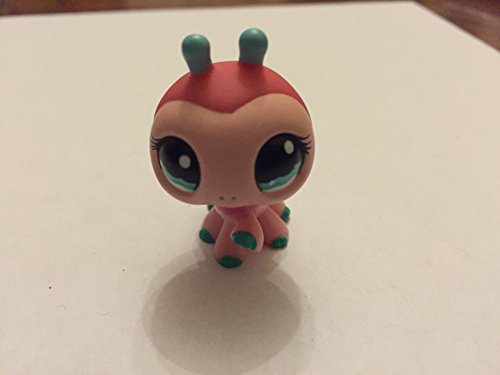 (Ladybug #1143 (Pink, Blue Eyes, Blue Toes/Antennae) - Littlest Pet Shop (Retired) Collector Toy - LPS Collectible Replacement Single Figure - Loose (OOP Out of Package & Print))