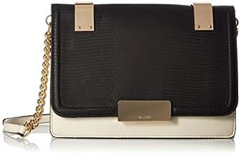 Aldo Velici Cross Body Handbag,  Black/White