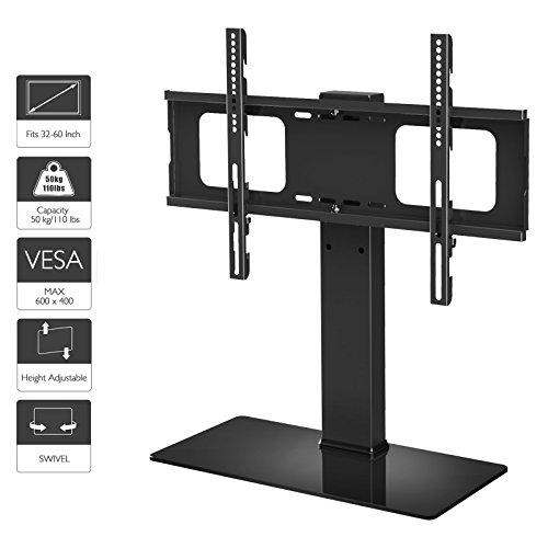 Left 6 Piece Living Room (1homefurnit Tabletop Base TV Stand LCD/LED TV 32 37 39 40 42 46 47 48 50 51 55 60 Inch Swivel Height Adjustable TV Desk Mount)