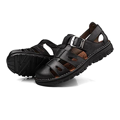 New Mens Hiking Outdoors Sandal Fisherman Casual Flats Lace Up Shoes COW Leather