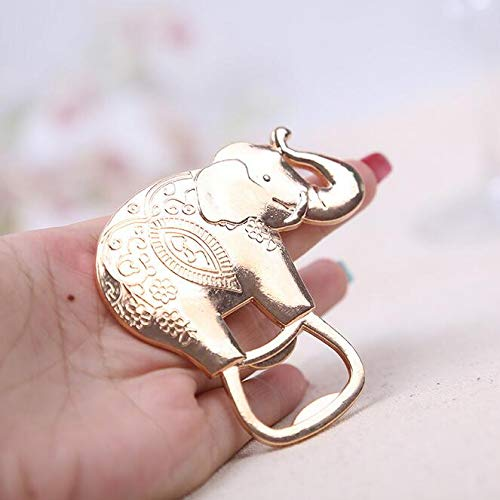 Bottle Opener - 100pcs Cartoon Gold Plated Lucky Elephant Bottle Opener Wedding Favors Party Reception Decoration - Name Handed Wallet York Iphone Carabiner License Fridge Davidson Vintage