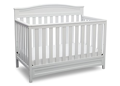 (Delta Children Emery 4-in-1 Convertible Baby Crib, White)