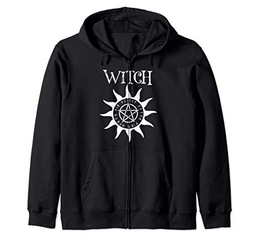 Witch Pentacle Pagan Wiccan Halloween Graphic Zip