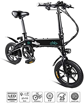 Adolenb Bicicleta eléctrica Plegables de E-Bike de 14