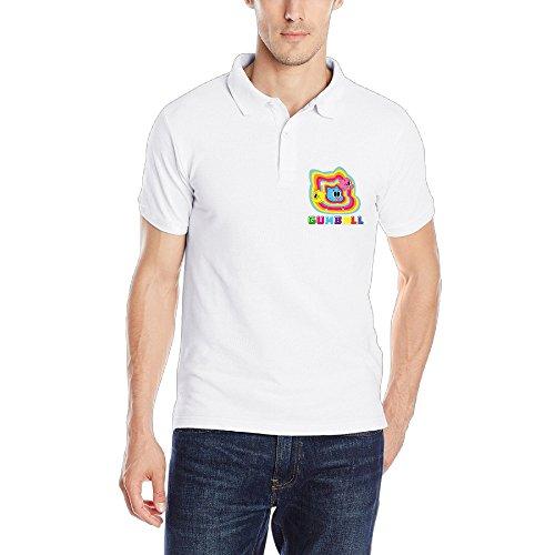 BALALA Men's The Amazing World Classic Polo Tshirt White Size XXL