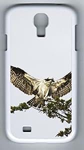 Bird Predator Hard Cover Back Case For Samsung Galaxy S4,PC White Case for Samsung Galaxy S4 i9500 Kimberly Kurzendoerfer