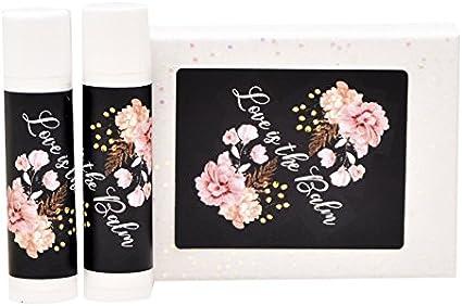 Floral Bridal Shower Stickers Rustic Chapstick Lip Balm Labels Wedding Lip Balm Labels