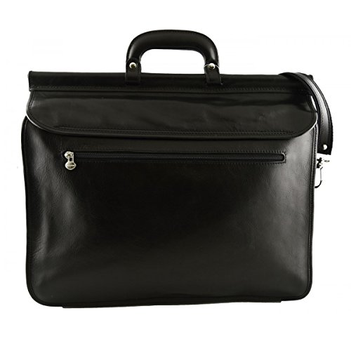 Pelle In Business Colore Nero Vera Made Toscana Cartella Pelletteria In Italy qEdnBgv
