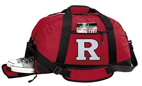 Broad Bay Rutgers University Duffle Bags - RU Gym Bag w/SHOE POCKETS by Broad Bay