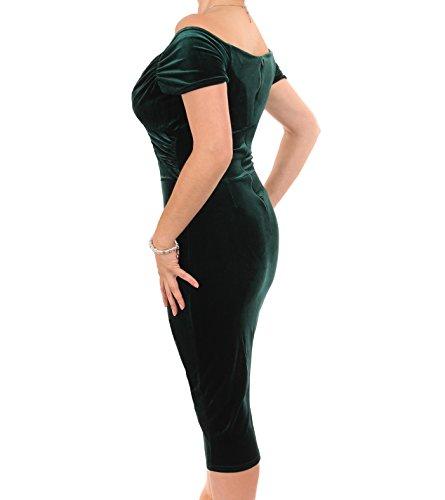 Bardot Velour Emerald Velvet Green Banana Women's Blue Dress IqRvxBOpw