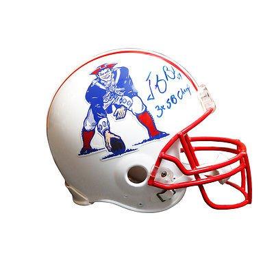 Tedy Bruschi New England Patriots Signed Throwback Full Size Helmet 3x SB  Champ 9b9aff19b