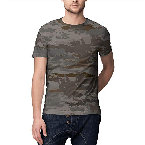 Military Texture Camouflage Men T Shirts Vintage Sports O-Neck Short Sleeve Tees Tops