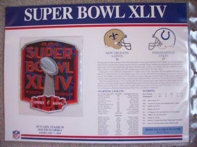 2009 New Orleans Saints - Indianapolis Colts Super Bowl XLIV 44 2010 Patch Card Drew brees MVP