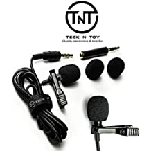 Mini Lavalier Lapel Microphone - Professional Clip On Collar Mic for Laptops, iPhone, Android Devices - Discreet, Portable Lav Recording System for Interviews, Podcasts, YouTubers, Vloggers