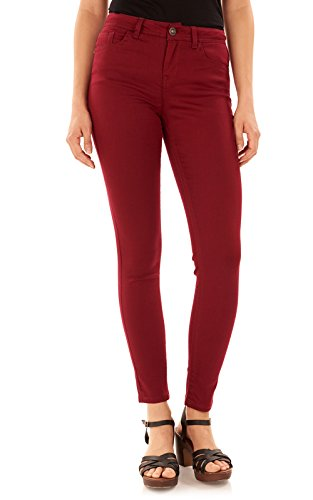 WallFlower Women's Juniors High Rise Irresistible Denim Jegging in Zinfandel, 11 Long